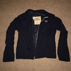 Hollister windbreaker jacket (navy blue)